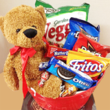 Stuffed Bear and Snacks