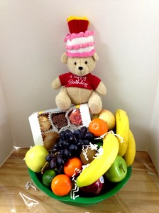 Happy Healthy Birthday basket