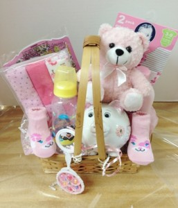 Babies girl gift basket
