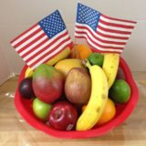 gift basket American flags