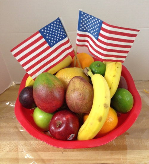 American Fresh Fruit Patriotic Basket