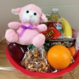 gift basket with lamb