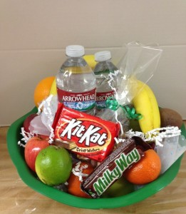gift basket with water