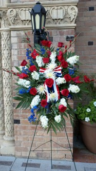 funeral red white & blue