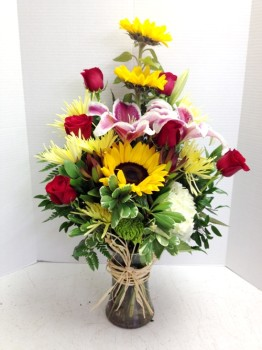 "<img src=""image.gif"" alt=""Colorful summer flowers"" />"