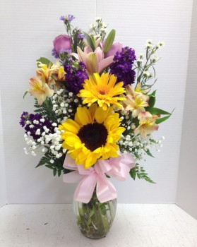 "<img src=""image.gif"" alt=""Colorful flowers for summer"" />"