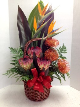 "<img src=""image.gif"" alt=""Three Different Tropical Flowers"" />"