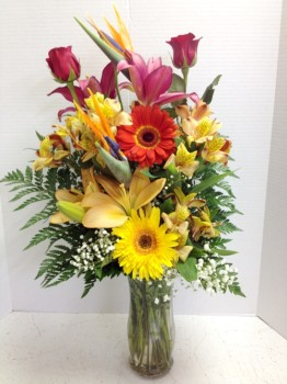 "<img src=""image.gif"" alt=""Mix Spring Flowers"" />"
