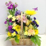 basket with butterflies