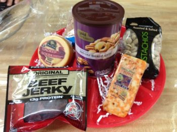 "<img src=""image.gif"" alt=""Nuts and Jerky Gift Basket"" />"