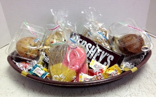 Football Cookie Basket