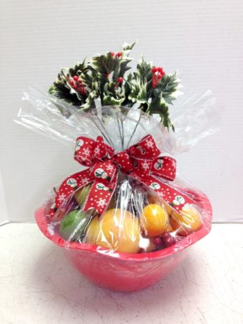 Christmas fruit in a basket
