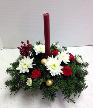 "<img src=""image.gif"" alt=""This is a One Candle Christmas Centerpiece"" />"