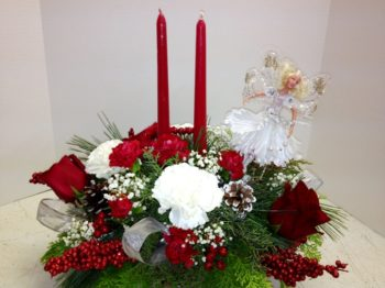 "<img src=""image.gif"" alt=""This is a Christmas Centerpiece with an Angel"" />"