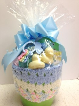 Baby Boy basket Wrapped
