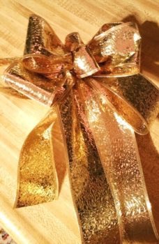 Gold Metallic Bow for Christmas