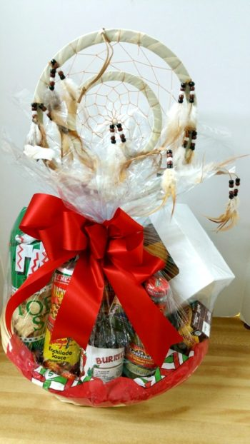 Southwest gift basket with dream catcher