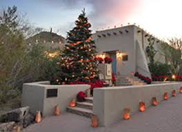 Christmas house in the desert