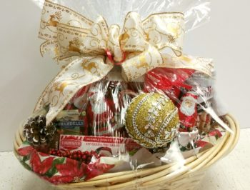 Santa's gift basket all wrapped
