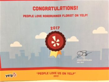 Love us on Yelp 2017