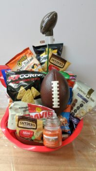 Who Loves Football gift basket